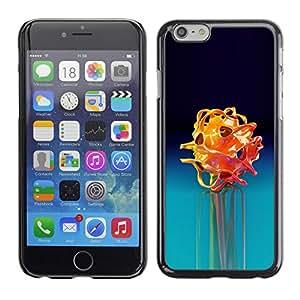 "Apple (5.5 inches!!!) iPhone 6+ Plus / 6S+ Plus , JackGot - Impreso colorido protector duro espalda Funda piel de Shell (Blue Rose Flor Negro Oscuro"")"