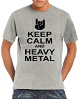 Touchlines Herren T-Shirt Keep Calm and Heavy Metal