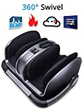 Miko Foot Massager Reflexology Machine with Shiatsu Massage Settings, Vibration, Kneading, Heat and Adjustable Bar for Feet, Ankles, Calf, Relieves Plantar Fasciitis, Neuropathy, Tired Muscles