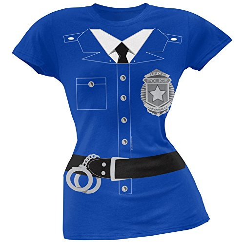 [Policeman Costume Juniors T-Shirt - X-Large] (Police Costume Shirt)