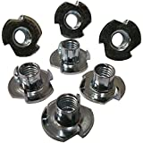 "3 Prong T Nut 6-32 x 1/4"" (Tee Nut) Qty: 100 Zinc Plated"