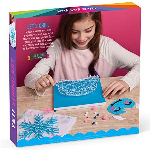 Craft-tastic – String Art Kit – Craft Kit Makes 2 String Art Canvases – Yeti & Snowflake Patterns