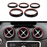 Angelguoguo 5PCS Double Color Car Air Conditioning