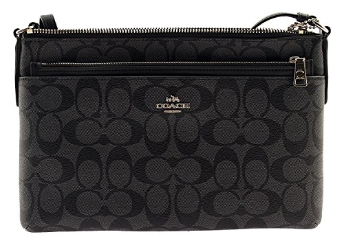 b9309ca0bf31 ... Coach Signature East West Crossbody with Pop-up Pouch in Black Smoke.  525537