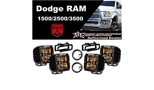 Rigid Radiance Pod Blue /& Fog Light Kit For 03-09 Ram 2500//3500 02-08 Ram 1500