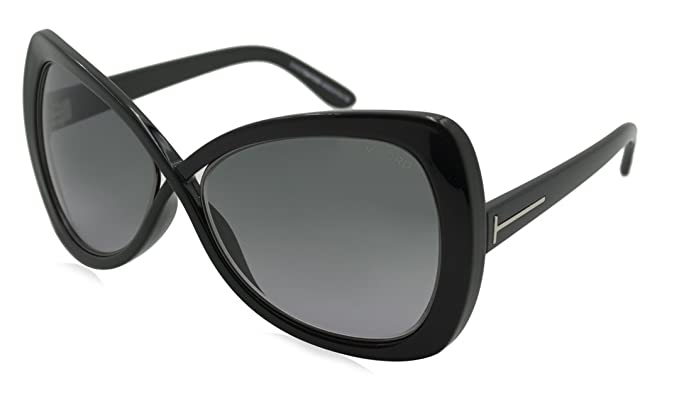 67b5b6050b6b Image Unavailable. Image not available for. Colour  Tom Ford Women s 0277  Jade Shiny Black Frame Gradient Smoke Lens Plastic Sunglasses
