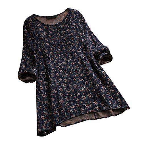 Blouses for Womens, FORUU Ladies Sales 2018 Winter Warm Under 10 Best Gift for Girlfriend Plus Size Women Vintage Floral Print Long Sleeves O-Neck Shirts Tops
