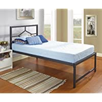 Kings Brand Furniture Black Metal Twin Size Day Bed Frame With Headboard