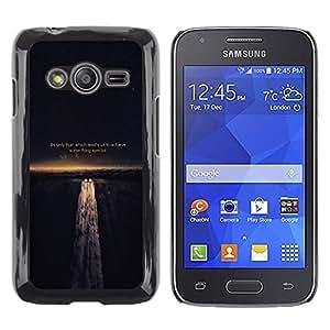 ROKK CASES / Samsung Galaxy Ace 4 G313 SM-G313F / PAIN LEADS US TO ACHIEVE - LIFE WISDOM / Delgado Negro Plástico caso cubierta Shell Armor Funda Case Cover