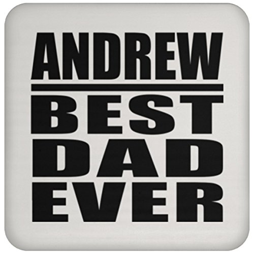 - Andrew Best Dad Ever - Drink Coaster Non-Slip Non-Skid Cork Mat Back-ing - Gift for Father Dad from Daughter Son Kid Wife Mother's Father's Day Birthday Anniversary