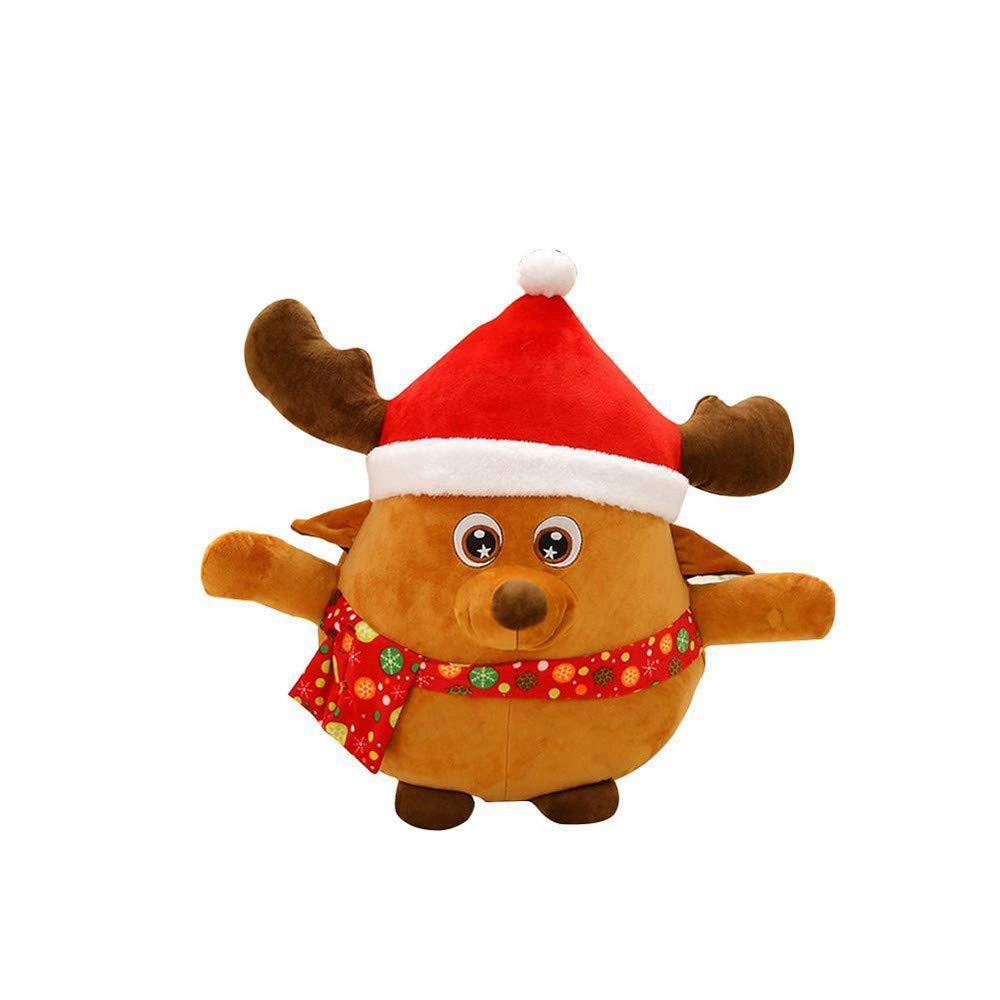 高品質 123Loop クリスマスブライトミュージックスローピロー クリスマスの輝く歌のサンタクロース人形 エルクぬいぐるみ B07JMC9SW9 One size CCH-80925202 B07JMC9SW9 123Loop size B, 坂井村:b2675674 --- beyonddefeat.com