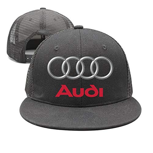 - Custom Audi-Logo-Symbol- Black Golf Hats Womens Mens