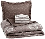 AmazonBasics 5-Piece Bed-In-A-Bag, Twin/Twin XL, Industrial Grey