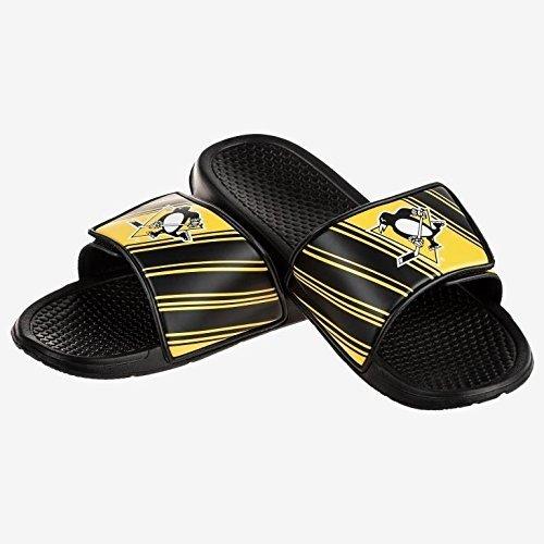 NHL Pittsburgh Penguins Men's Legacy Sport Slide Slippers, Large, Team Color
