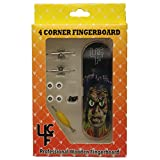 """4CFB Complete Wooden Fingerboard with Real Wear """"The Creeper"""" Golden Age Comic Book Graphic"""