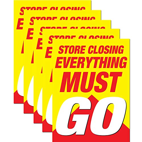 (Store Closing Everything Must Go Retail Display Sign, 18