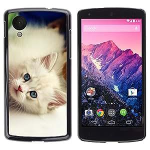 Carcasa Funda Case // V0000908 Cat Kitty Animal Pattern // LG NEXUS 5