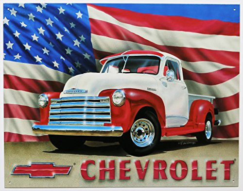 Chevrolet Chevy 1951 Pickup Truck Retro Vintage Tin Sign (Car Classic Signs)
