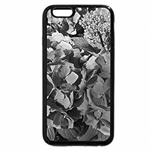 iPhone 6S Case, iPhone 6 Case (Black & White) - Flowers Contrast background 48