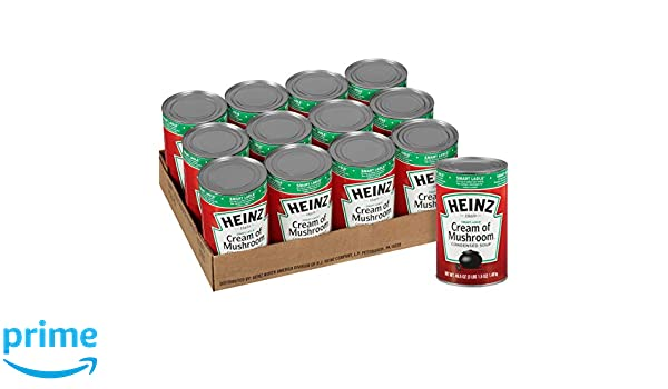 Heinz Reduced Sodium Soup Can, Cream of Mushroom, 49.5 Ounce (Pack of 12): Amazon.com: Grocery & Gourmet Food