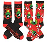 Looney Tunes Marvin the Martian Casual Socks, 2 Pack, Shoe Size 6-12