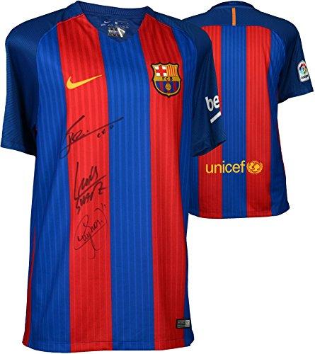 Lionel Messi, Luis Suarez, Neymar Barcelona Autographed 2...