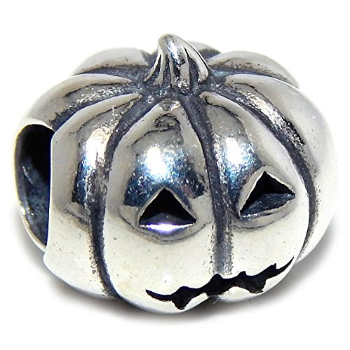 Pro Jewelry 925 Solid Sterling Silver Jack-O'-Lantern Charm Bead (Pandora The Witch Costume)