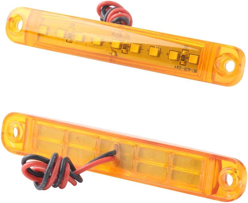 10pcs Feux Lat/éraux de Camion LED 9 SMD Voyant Indicateur de Marqueur Lat/éral LED Feux de Position de Lumi/ère Lat/érale Arri/ère 12V Blanc Feux de Gabarit Lat/éraux
