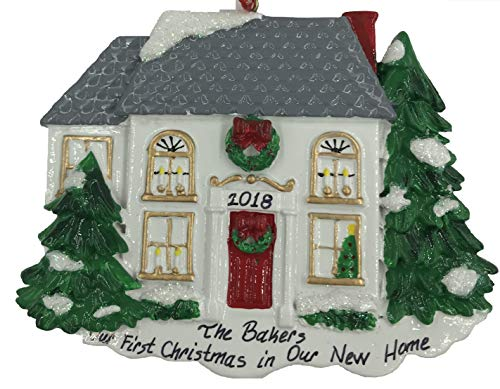 Personalized Our First Christmas in Our New Home Christmas Ornament 2018 Free Personalization