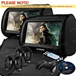 XTRONS 2X Twin Car Headrest DVD Playe...