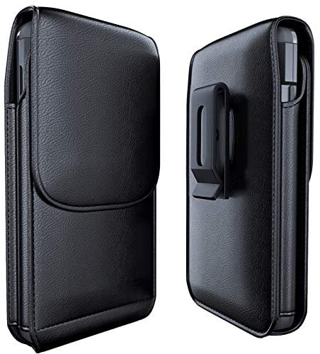 Meilib Holster for iPhone 11, iPhone XR, Premium Leather Belt Case with Belt Clip [Magnetic Closure] Pouch Cover w/Built in ID Card Holder (Fits Apple iPhone 11, Xr with Cases on)