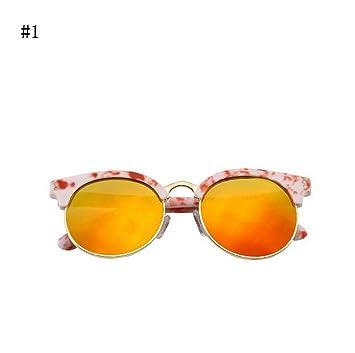 Flashing- Art und Weise Kinder Sonnenbrille Halbrahmen Kröte Gläser Anti - Glare - Brille Strahlenschutz - Baby ( Farbe : #1 ) wWyBZurN2