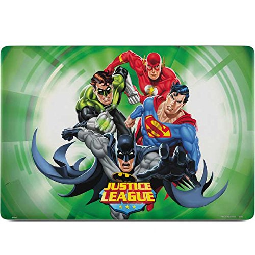 Skinit DC Comics Justice League MacBook Pro 15-inch with Touch Bar (2016-18) Skin - Justice League Team Power Up Green Design - Ultra Thin, Lightweight Vinyl Decal Protection