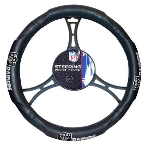 Officially Licensed NFL Oakland Raiders Steering Wheel Cover