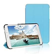 Tab 4 7 Case, JETech® Gold Slim-Fit Smart Case Cover for Samsung Galaxy Tab 4 7 (7.0 inch) Tablet (Blue)