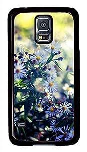 White Chrysanthemum 3 Black Hard Case Cover Skin For Samsung Galaxy S5 I9600