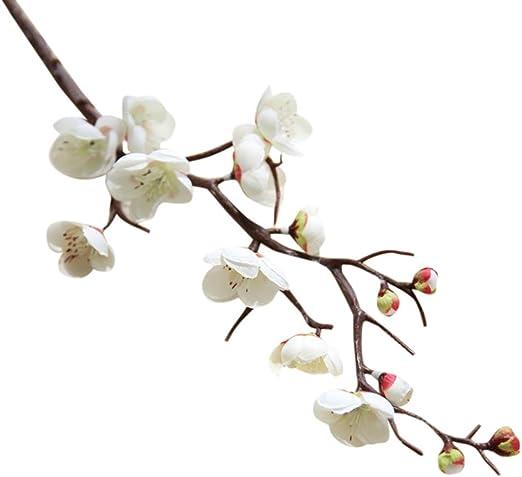 Artificial Silk Fake Flowers Plum Blossom Floral Bouquet Wedding Party Decor 1PC