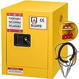 Mophorn Flammable Cabinet Galvanized Steel 1 Door Safety Cabinet 24 Gallon 18 x 23 x 65 Inch Adjustable Shelf Flammable Storage Cabinet