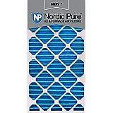 Nordic Pure 20x30x2 MERV 7 Pleated AC Furnace Air Filters, 20x30x2, 3 Piece