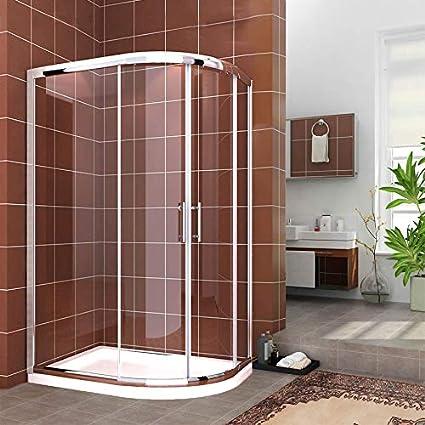 Quadrant Shower Enclosure Cubicle Safety Glass Stone Tray Riser Kit /& Free Waste