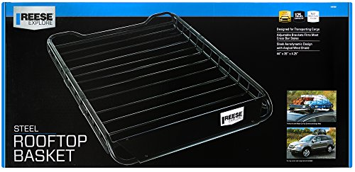 Reese 1391300 Explore Rooftop Cargo Basket, Easy Assembly 125 Lb. Capacity