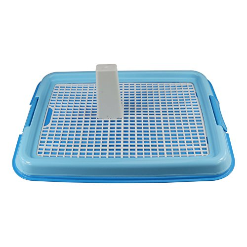 Small Puppy Dog Potty Toilet Tray Training Mesh Pad Holder for Indoor Use