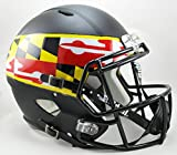 NCAA Maryland Terrapins Full Size Speed Replica Helmet, Black, Medium