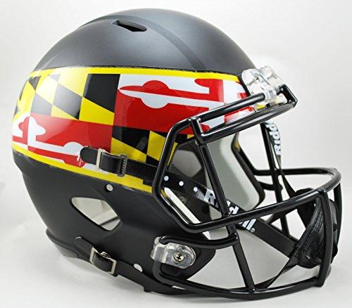 NCAA Maryland Terrapins Full Size Speed Replica Helmet, Black, Medium by Riddell