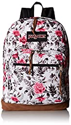 JanSport Womens Classic Specialty Right Pack Expression Backpack - Multi Black/White Graphic Floral / 18\