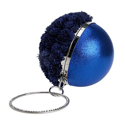 Pour Fleur Main À Motif Hungrybubble Bleu Rond Femme Sac Noir Marine Z1qFwIHw