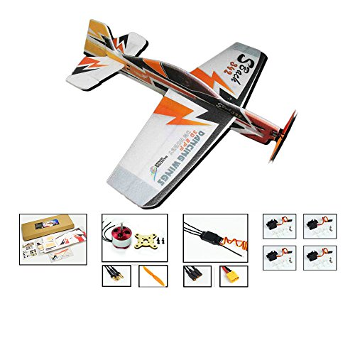 (DW Hobby 3D Flying Airplane Sbach 342 1000mm Wingspan 4CH EPP Electric Aeroplane Remote Controlled Aircraft Need to Build Unassembled KIT Hobby Toy Moldel (E0904) )