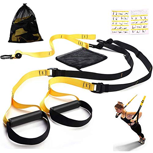 Futureup Bodyweight Fitness Resistance Trainer Kit – Complete Training Straps Kit for Full Body Strength – Easy Quick Setup for Home, Gym & Outdoors Workouts Without Installing Door Stop