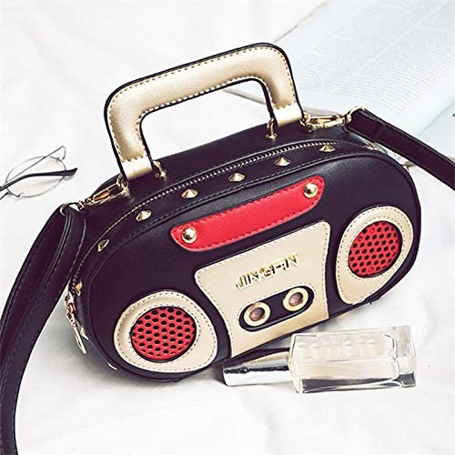 Sac à Main Style Rock Style rétro en Forme de Radio pour