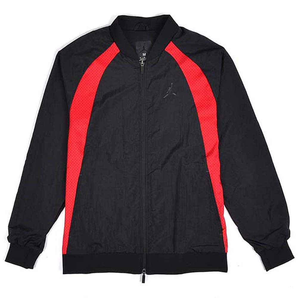 5702ec1d0fe NIKE Air Jordan Mens Wings Muscle Jacket Bred Black/Red at Amazon Men's  Clothing store: